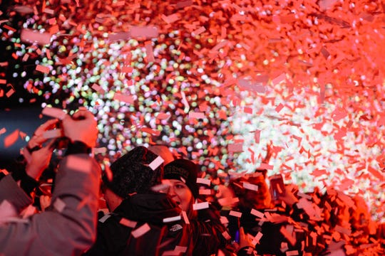 Partygoers celebrate the new year at Music City Midnight.