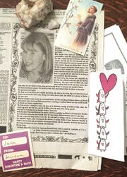 I didn't put the cause of my mom's death in her obituary. It wasn't on purpose, or it was subconscious that I could say it, but not write it yet. In my living room, I keep some of my favorite things from her, rocks collected from a trail near her home; notes she wrote the kids; the bendable and stretchy bunnies she sent.