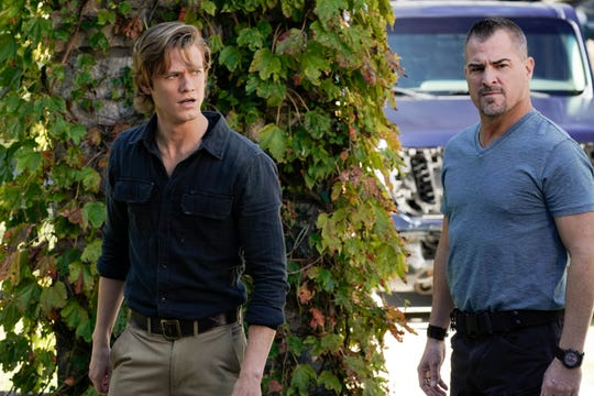 MacGyver (Lucas Till), left, will have to start solving missions without colleague Jack Dalton (George Eads), as Eads is leaving the CBS drama.
