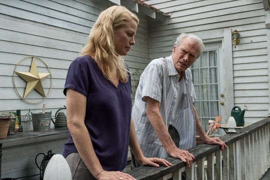 Earl (Clint Eastwood, right) attempts to mend fences with estranged daughter Iris (Alison Eastwood).