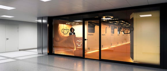 The Sleepbox Nap Lounge at Washington Dulles International Airport will offer 16 sound-proofed rooms.