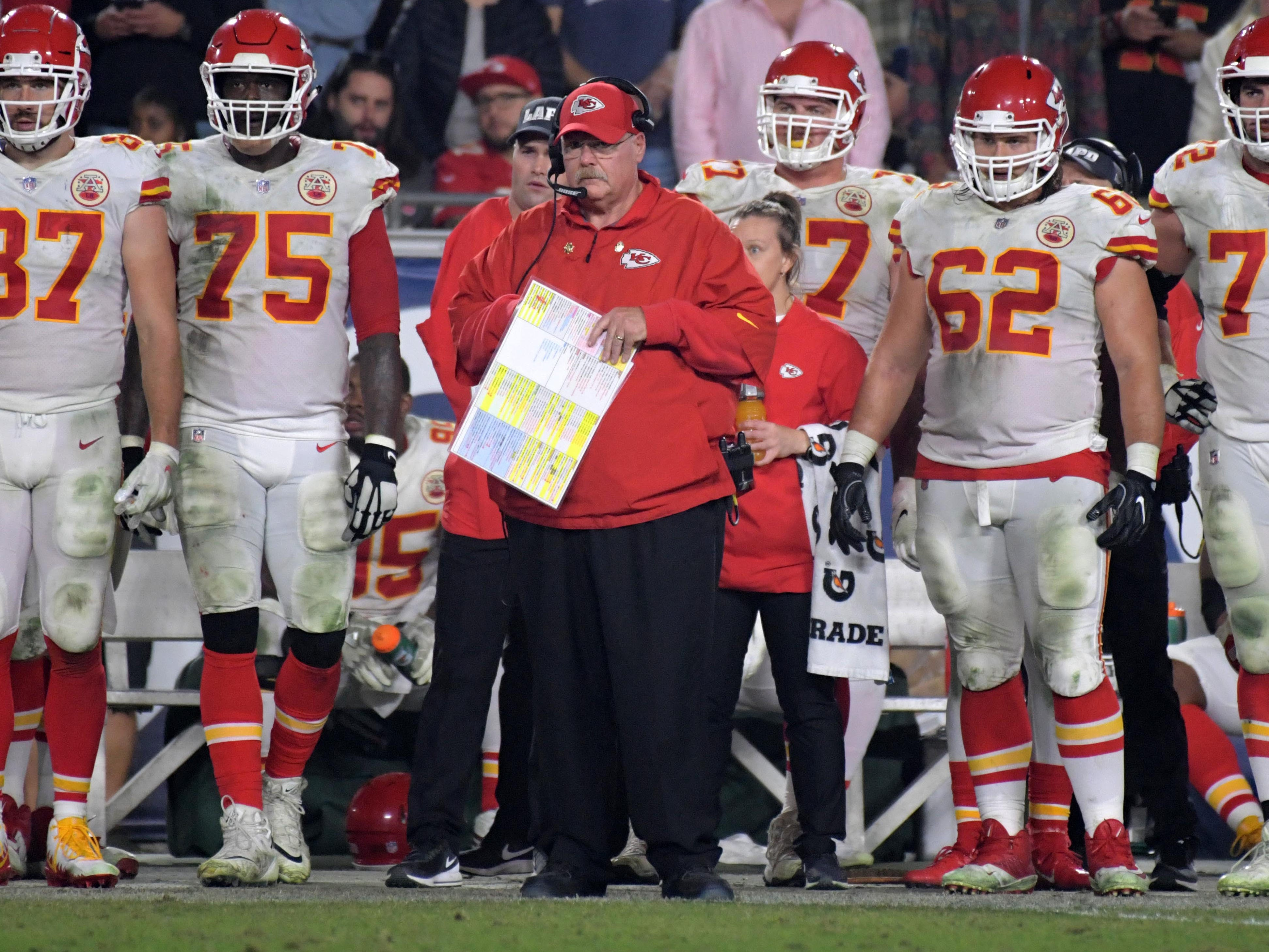 3. Chiefs (3): Remaining schedule is a Raiders sandwich with Ravens, Chargers and Seahawks in between. K.C.'s path to No. 1 seed likely to be very bumpy.