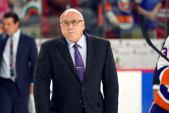 Barry Trotz is in his first year as coach of the Islanders