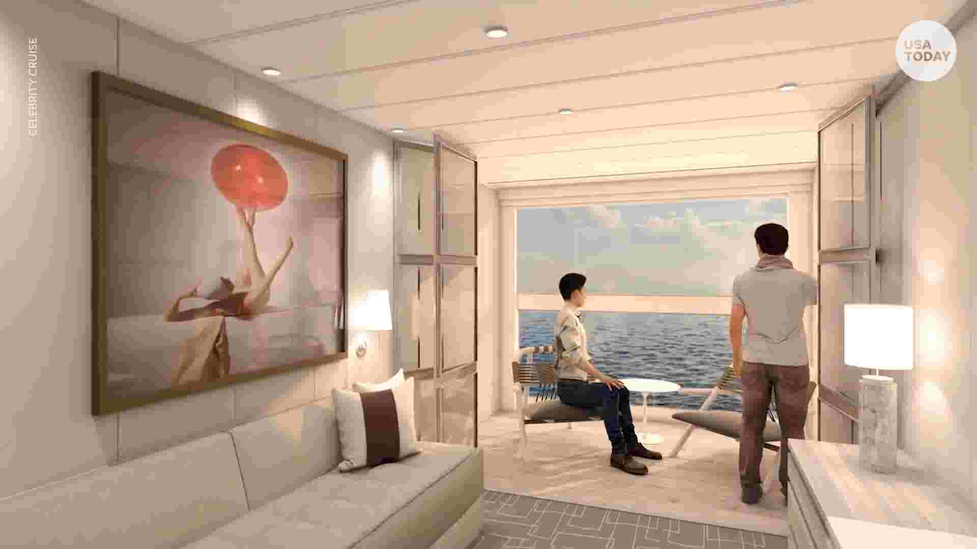 d1727e2ff2 The edge of innovation  New cabin design on Celebrity ship brings  floor-to-ceiling windows