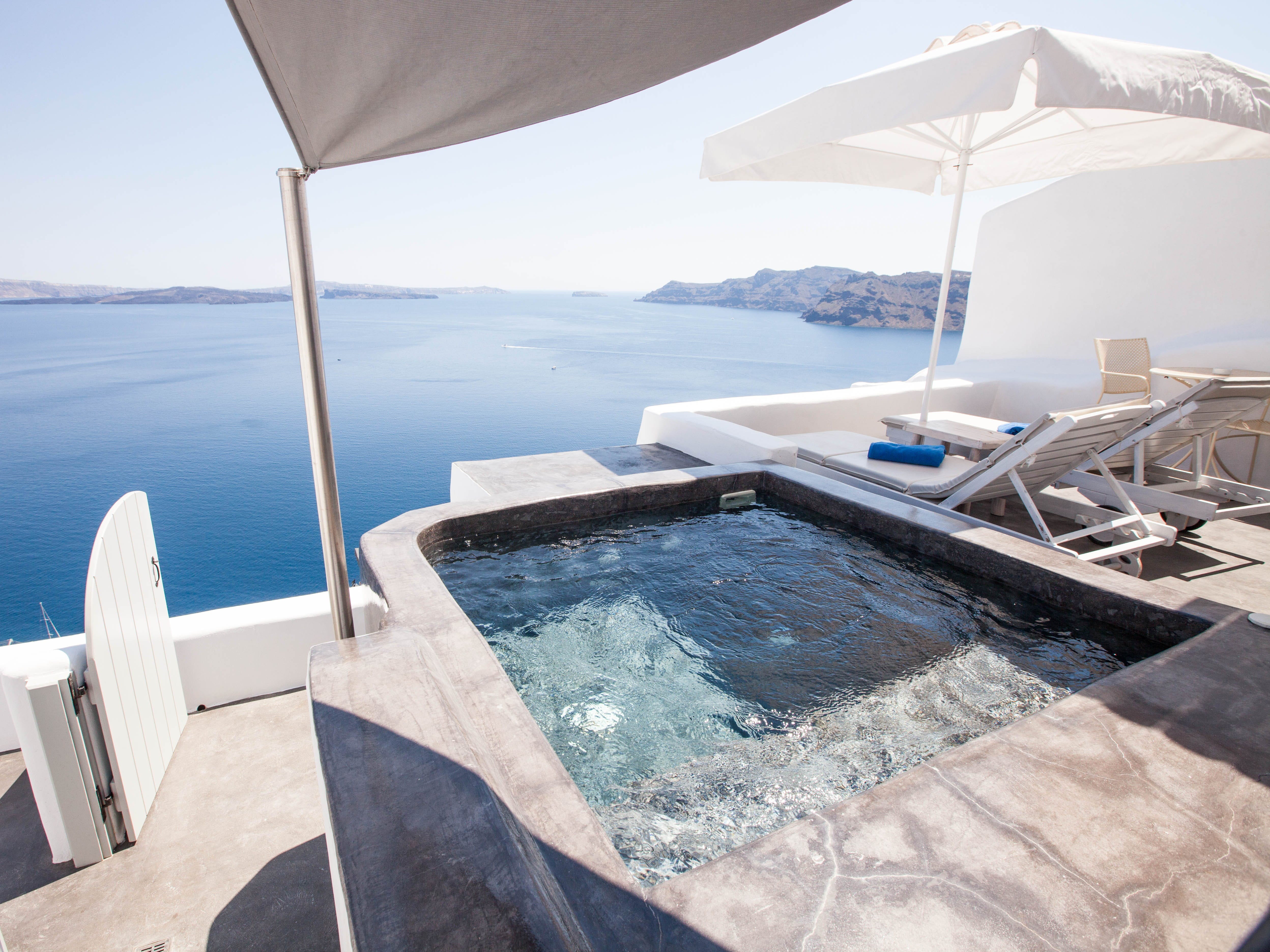 Andronis Boutique Hotel: There's romance to be found in every corner of the 14-room Andronis Boutique Hotel, from the kidney-shaped pool overlooking the crystal-blue Aegean to the cave-like quarters with private balconies, hot tubs and spectacular sea views (some even have private infinity pools). Toast to new beginnings at the large domed bar specializing in Greek wines, or at the open-air restaurant doling out traditional Greek cooking.