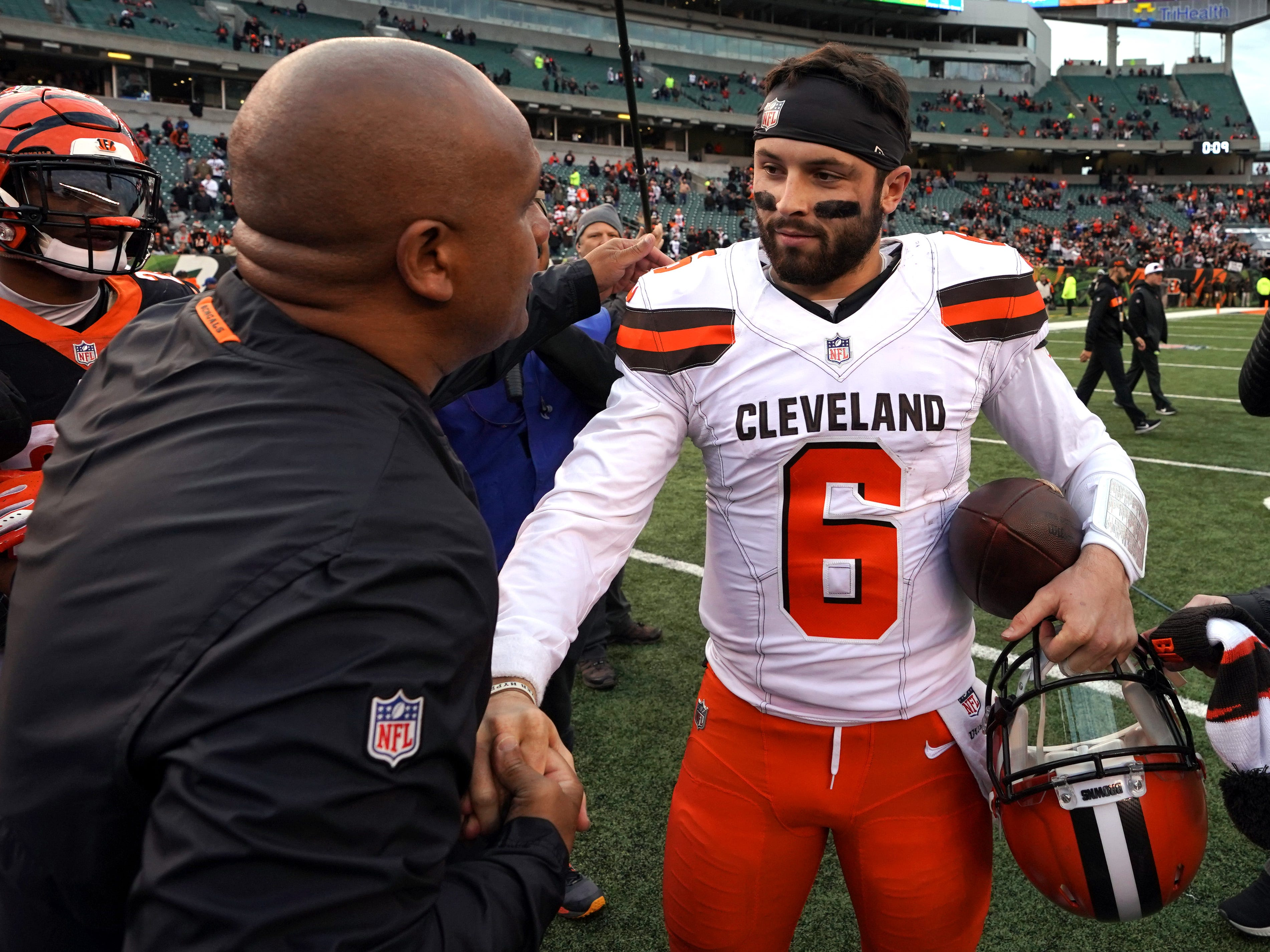 21. Browns (23): So maybe Baker Mayfield doesn't yet appreciate NFL's business side. But some Hue Jackson shade gives Cincy-Cleveland rivalry needed flair.