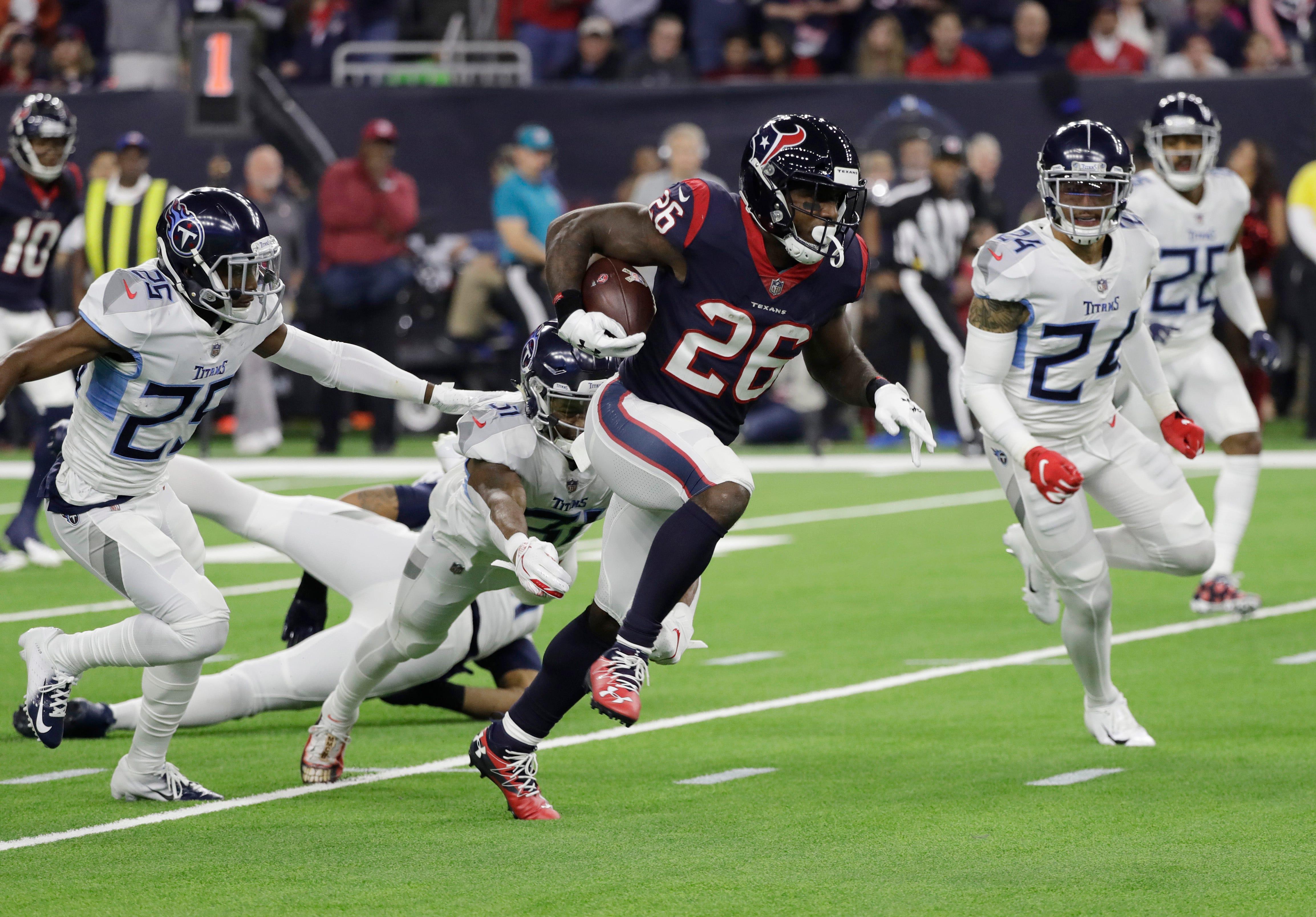 Lamar Miller makes NFL history with 97-yard touchdown run vs. Titans