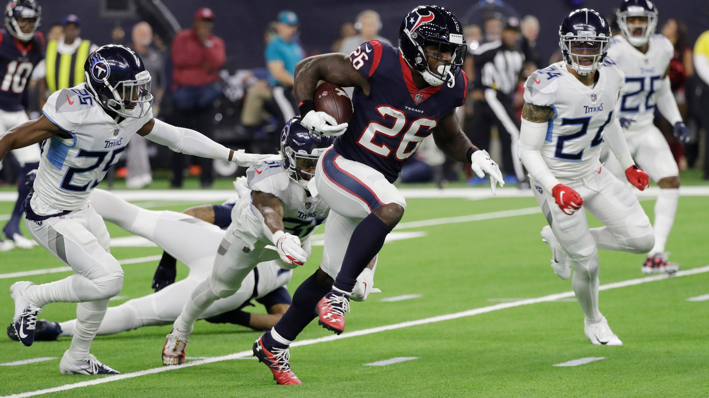 Lamar Miller: Houston Texans RB makes history with 97-yard