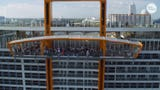 The first new Celebrity cruise ship in years, the Edge, is loaded with cutting-edge tech, including this striking new Magic Carpet.