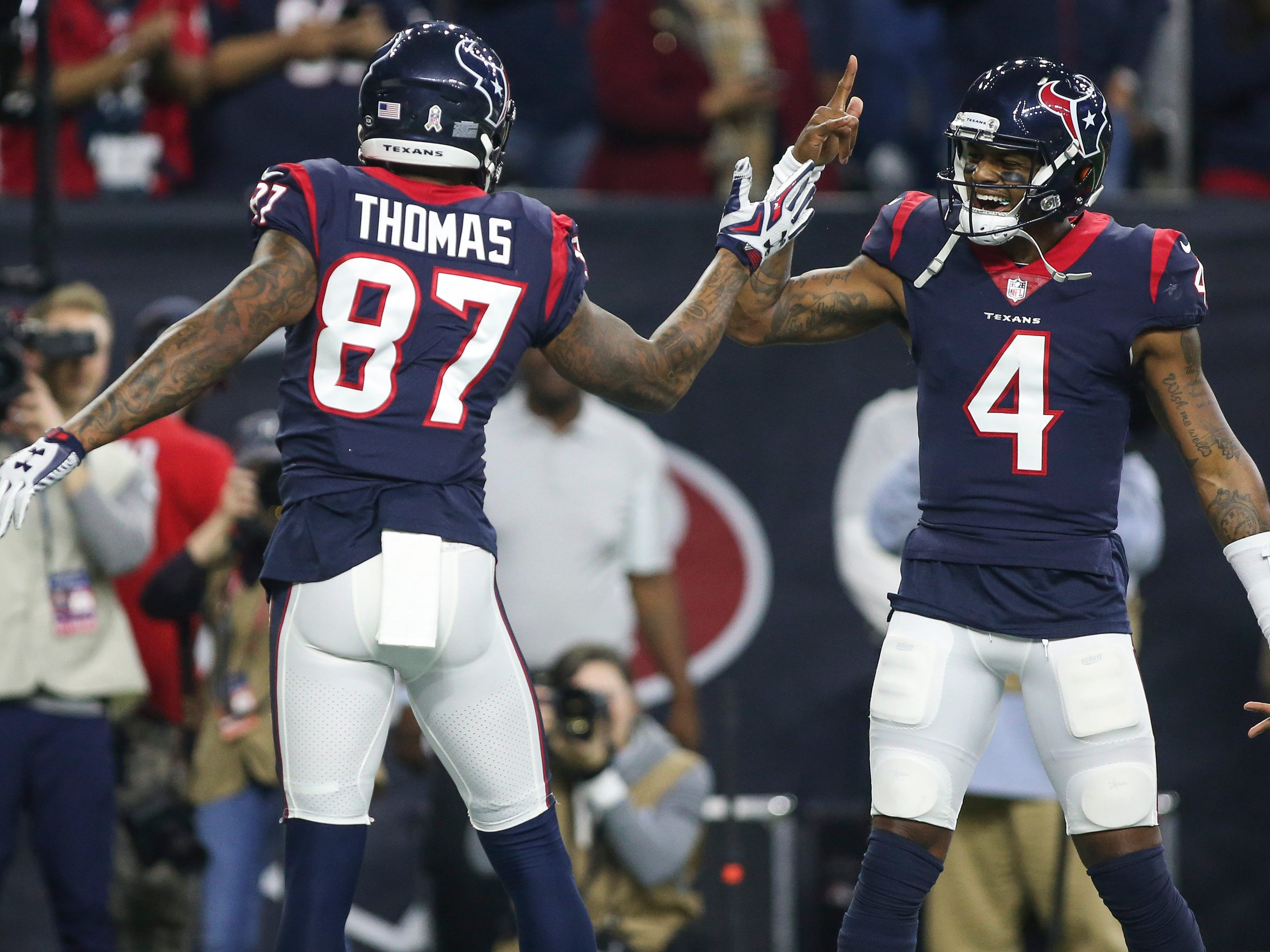 7. Texans (8): Franchise record eighth consecutive victory comes on night they rush for franchise record 281 yards. First team ever to win eight straight following 0-3 start to season. Throw out those record books when Houston takes field.