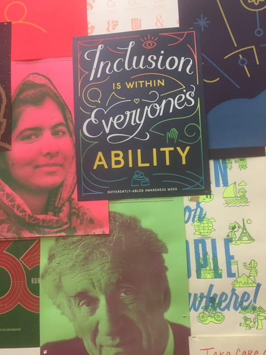 Posters on Facebook's Menlo Park, California campus