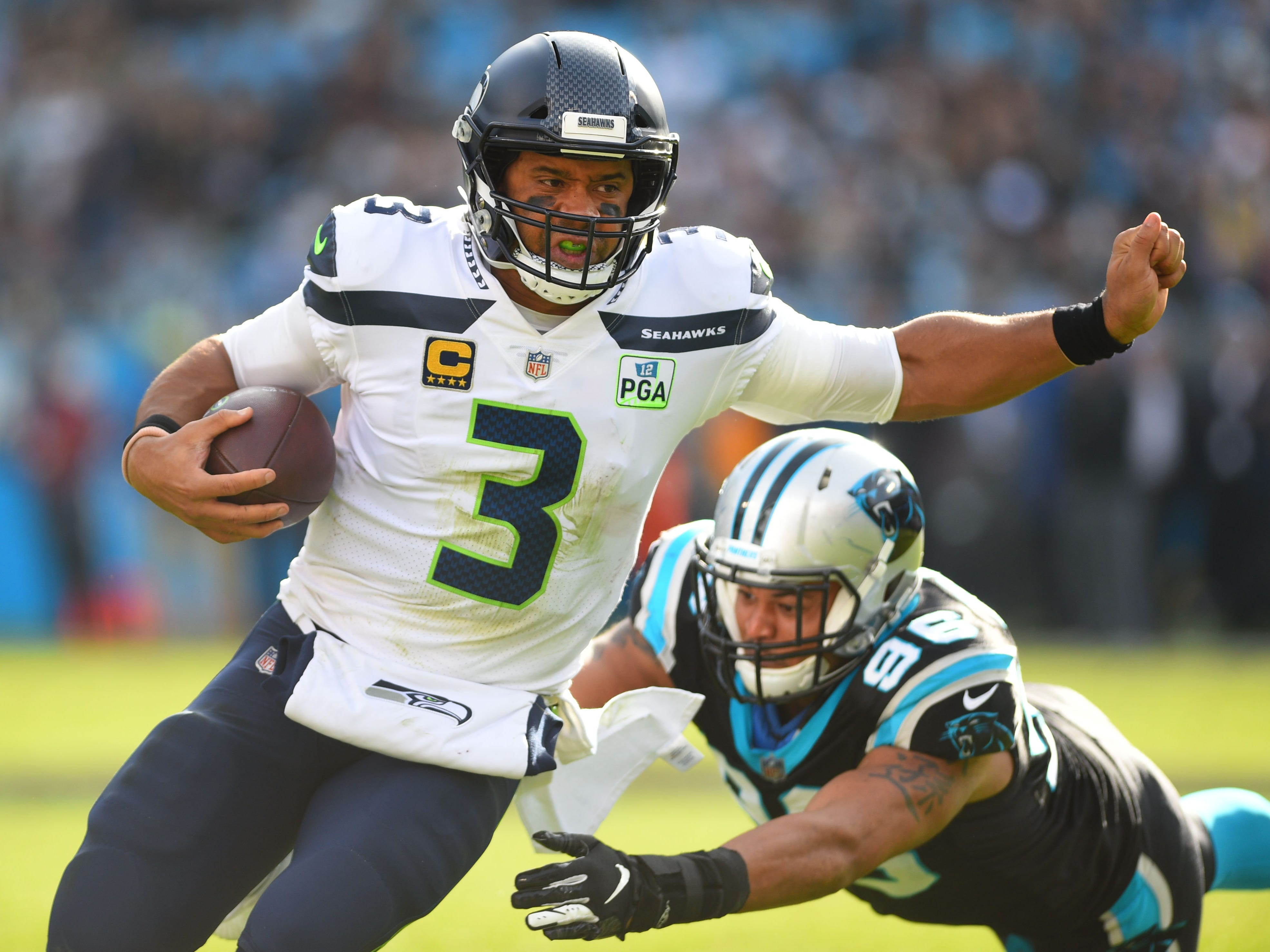 12. Seahawks (13): On a day they couldn't stop a nosebleed or run the ball, you wouldn't think they'd hand Carolina first home loss. Bravo, Russell Wilson.