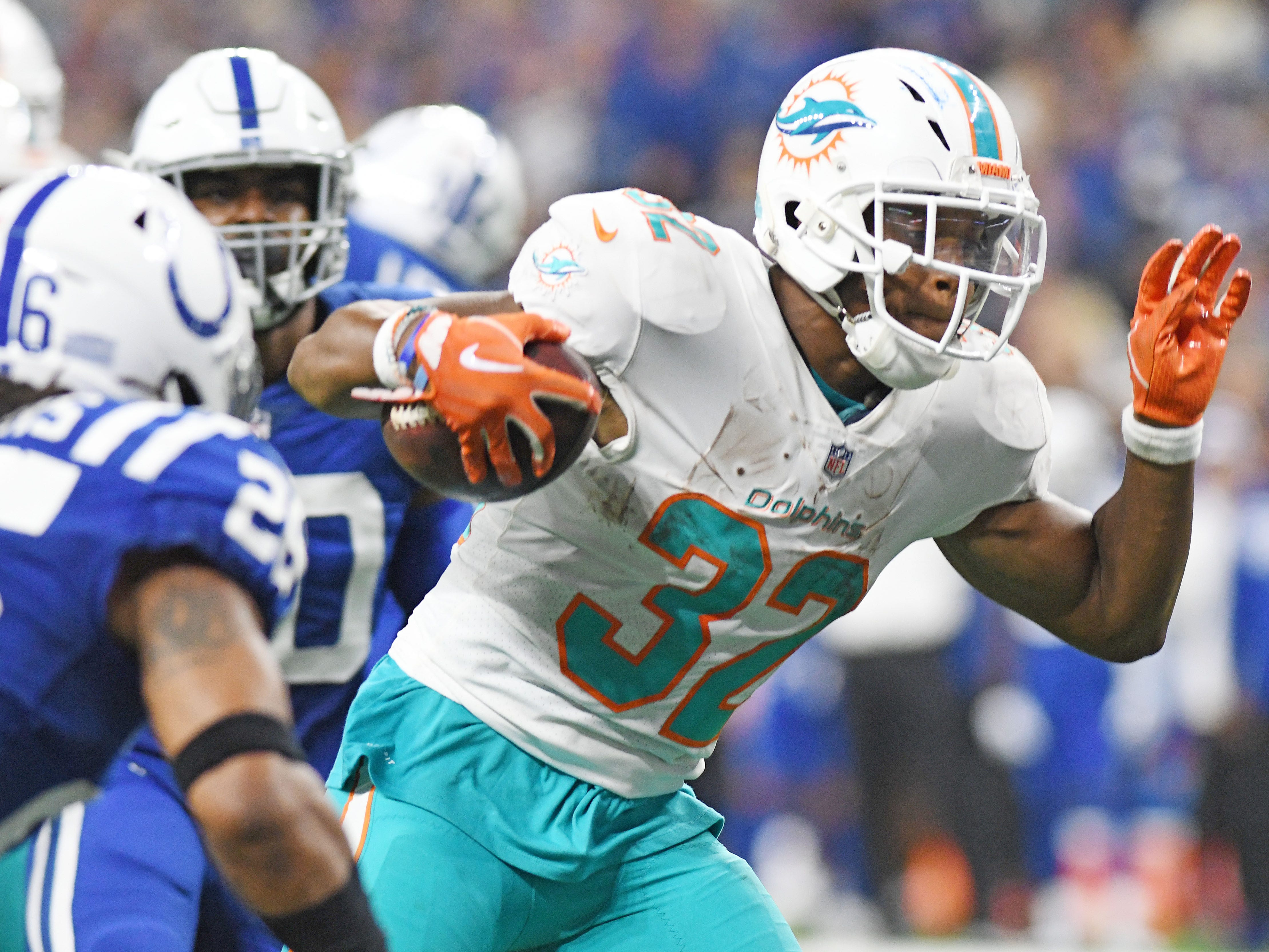24. Dolphins (19): Just no weapons on this offense. Kenyan Drake is only player on pace to reach 1,000 yards from scrimmage, and he's in line for 1,027.