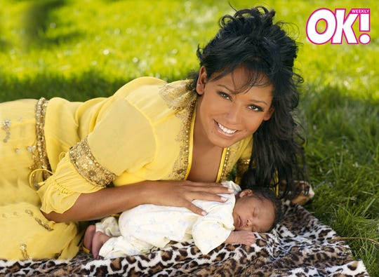 Mel B with her infant daughter Angel on the cover of the May 7, 2007 issue of OK! Weekly magazine.