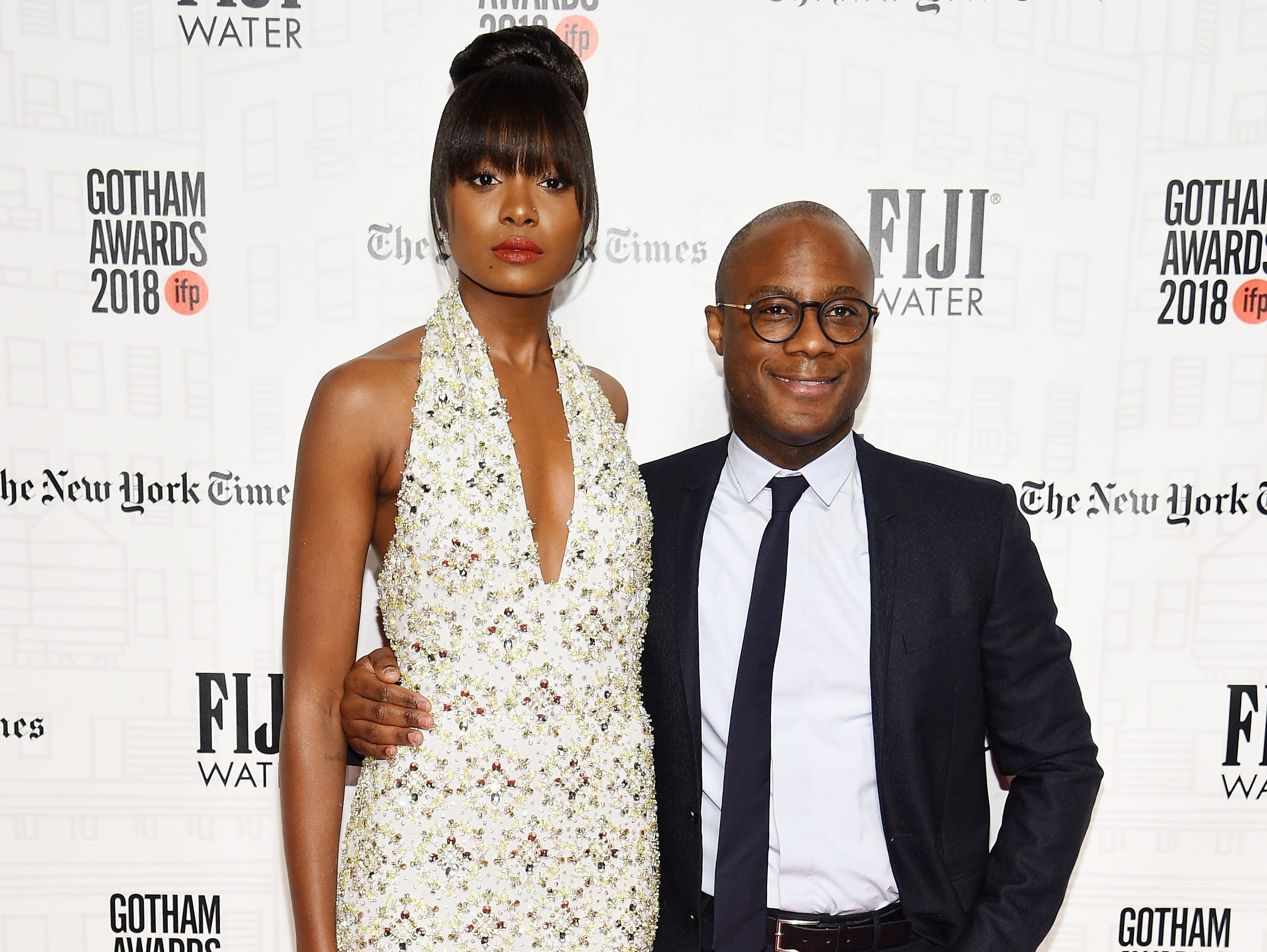 NEW YORK, NY - NOVEMBER 26: Naturi Naughton and Barry Jenkins attend IFP's 27th Annual Gotham Independent Film Awards at Cipriani, Wall Street on November 26, 2018 in New York City.  (Photo by Dimitrios Kambouris/Getty Images for IFP) ORG XMIT: 775261541 ORIG FILE ID: 1065571456