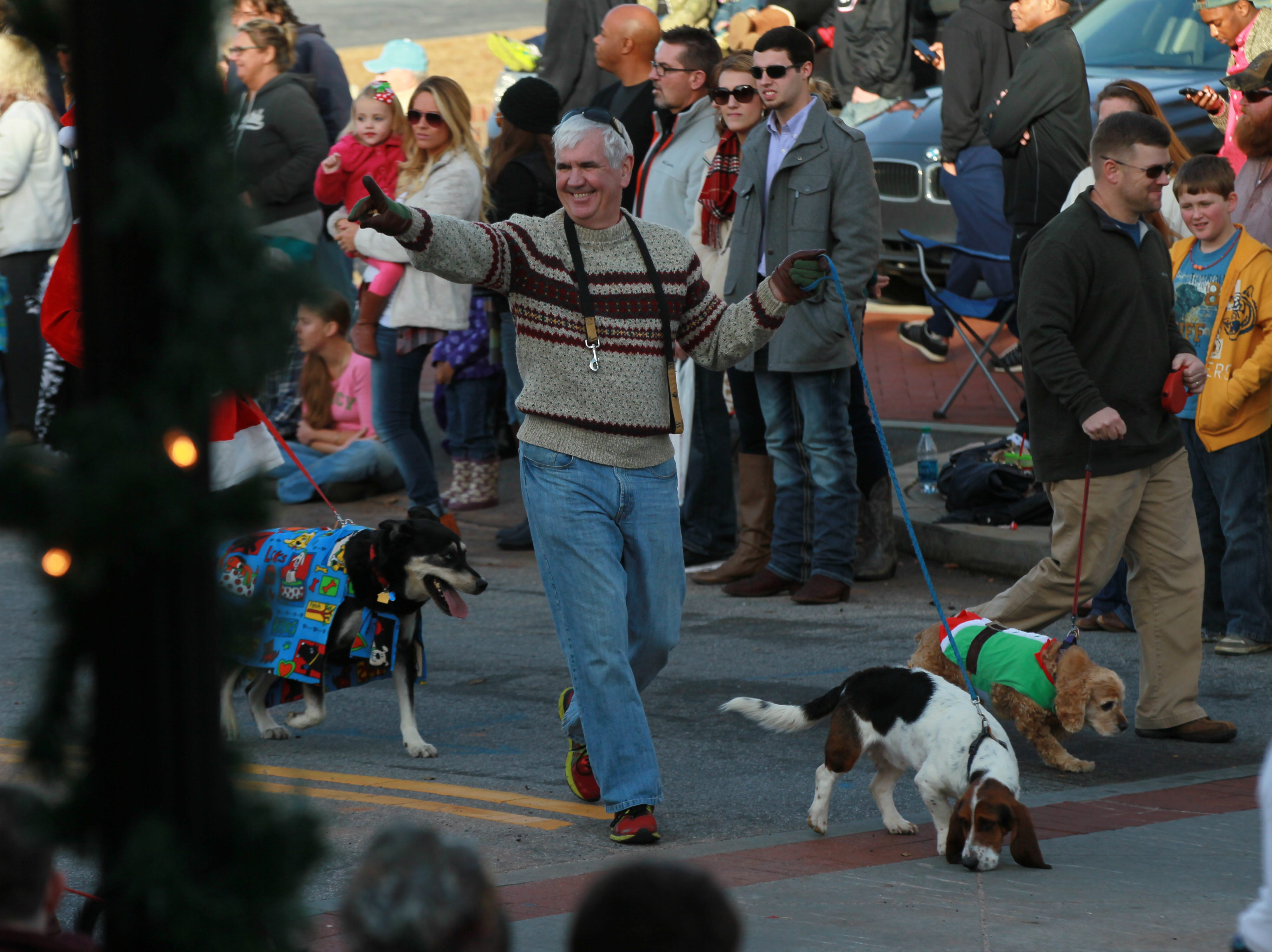 Dr. Marshall Meadors in the Anderson Christmas Parade in 2014