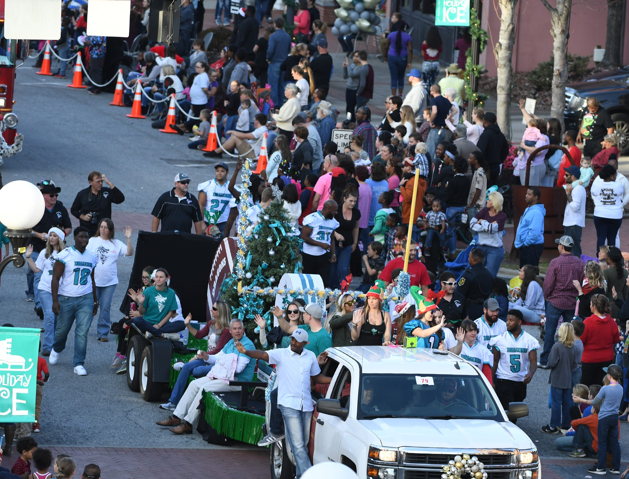 The City of Anderson Christmas Parade on Main Street in Anderson on Sunday, December 3, 2017.