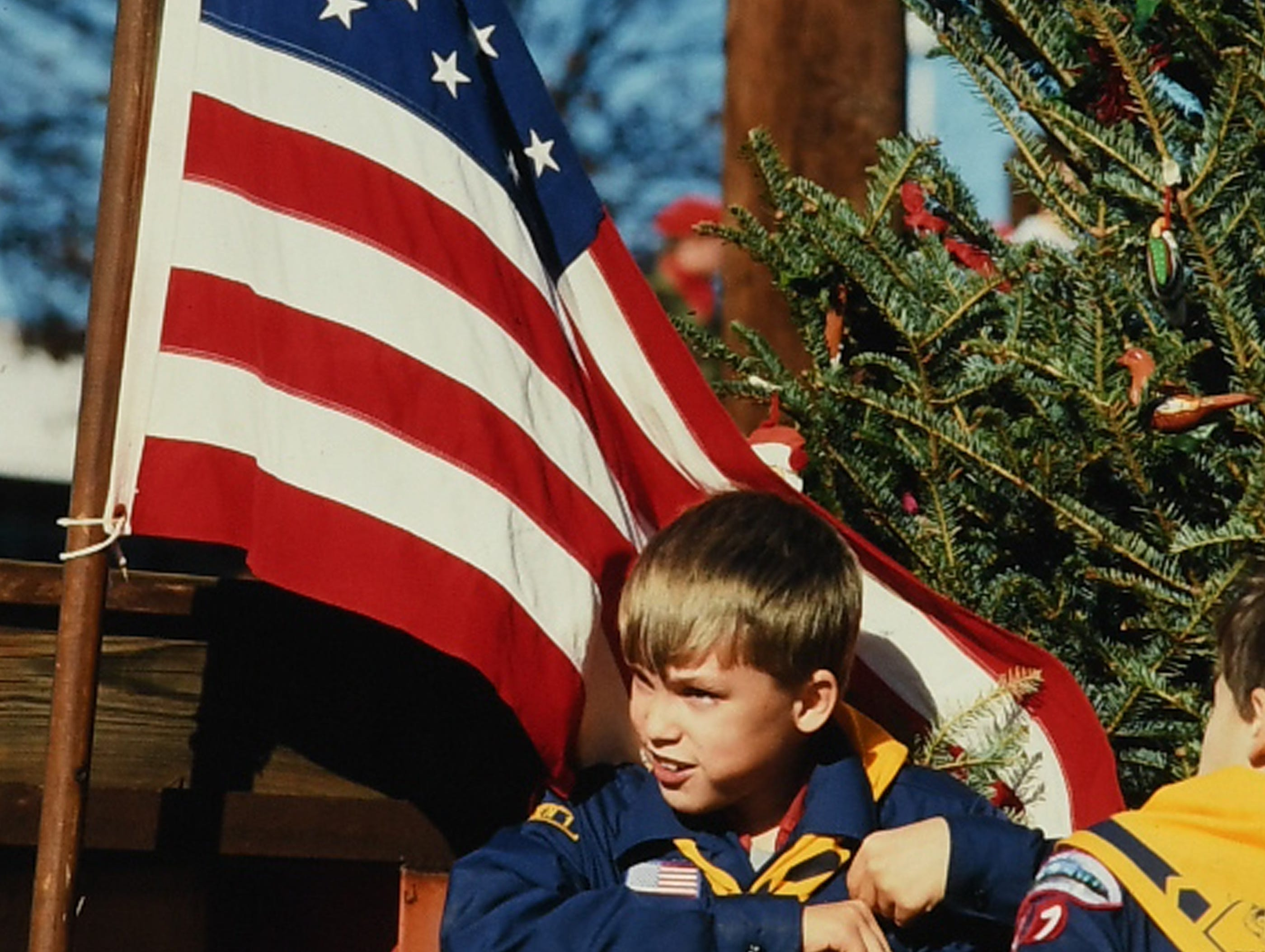 Cub Scout Pack 94 of Anderson, in the Anderson Christmas parade in December 1987 in downtown Anderson. (Patrick Wright photos)