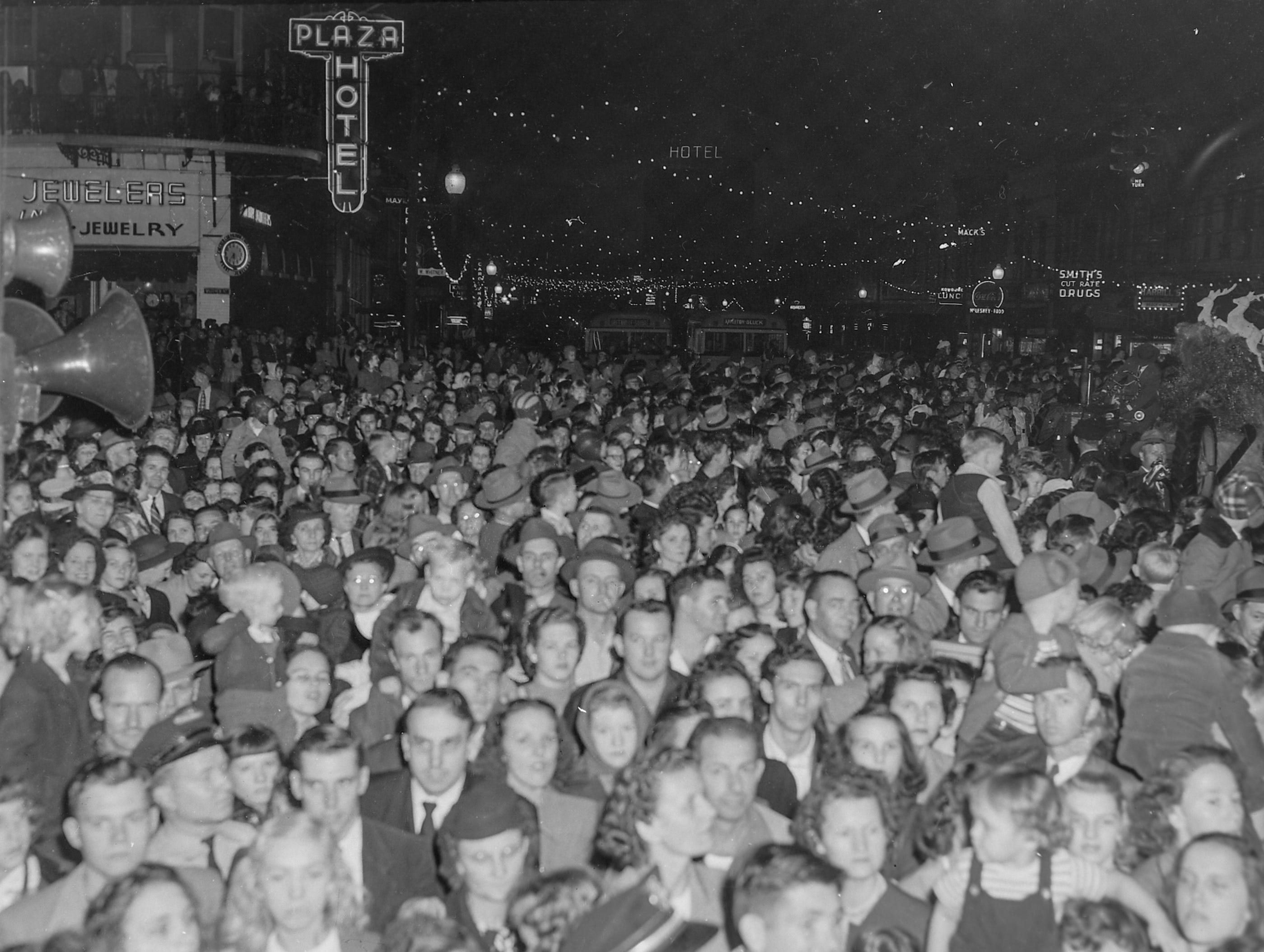 Anderson Christmas Parade on December 1949 in downtown Anderson.