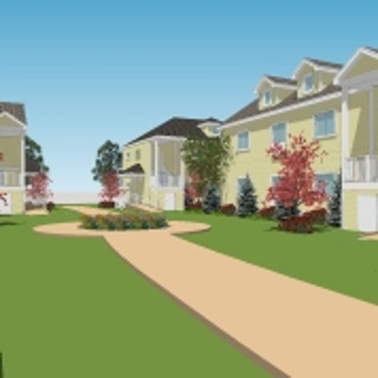 Rendering of hotels at Trophy Park proposed for Jackson