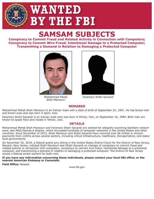 Ransomware wanted poster