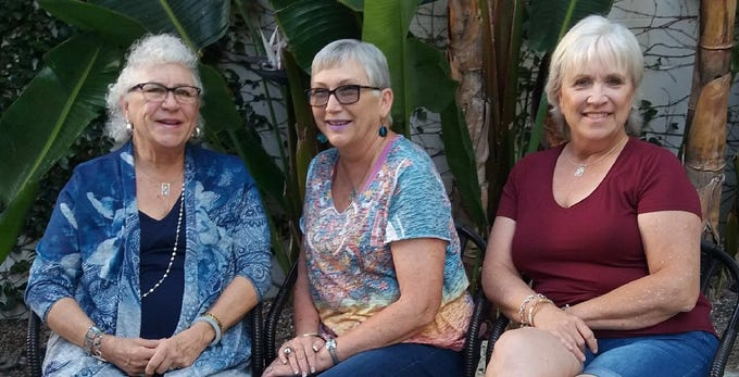 Raetta Romero of California, Mona Briggs of Arkansas, and Catherine St Clair of Texas are half-sisters who connected through at-home DNA testing.