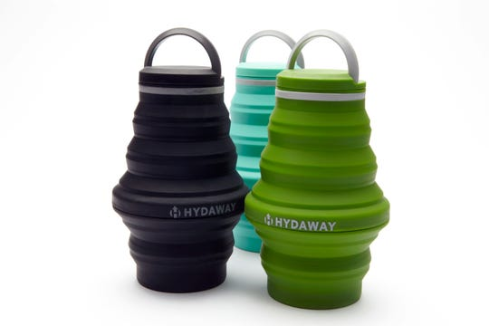 The collapsible Hydaway water bottle.