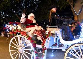 The 30th annual City Sidewalks Christmas Lights Parade is an Abilene tradition that always draws a large crowd each year.