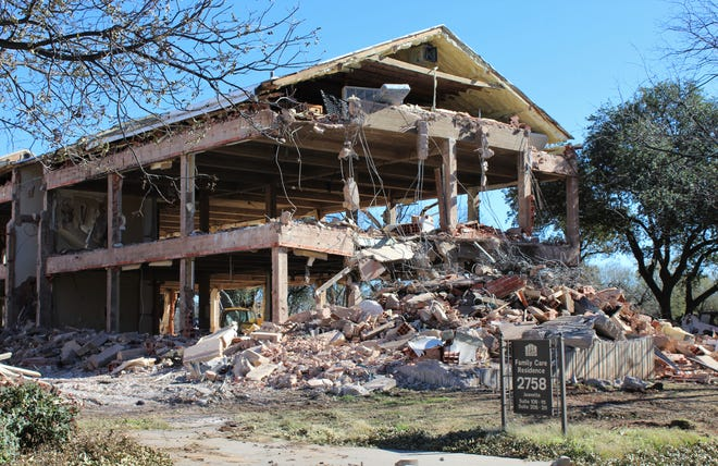 A portion of the main building of Hendrick Home for Children has been gutted as work begins on a major remodel at the campus opened in 1939.