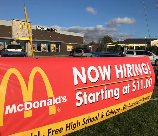 This McDonald's in Arden had to close on a recent Sunday due to a lack of employees. It was recently advertising a starting wage of $11 an hour.