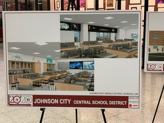 A mock of what a science lab would look like if the capital project is approved.