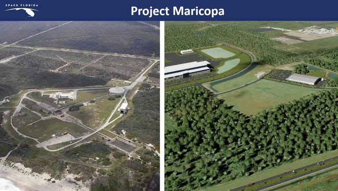 Space Florida is recruiting a company to manufacture small rockets at Kennedy Space Center's Exploration Park and launch them from Cape Canaveral Air Force Station's Launch Complex 20, shown here. The confidential deal uses the code name Project Maricopa.