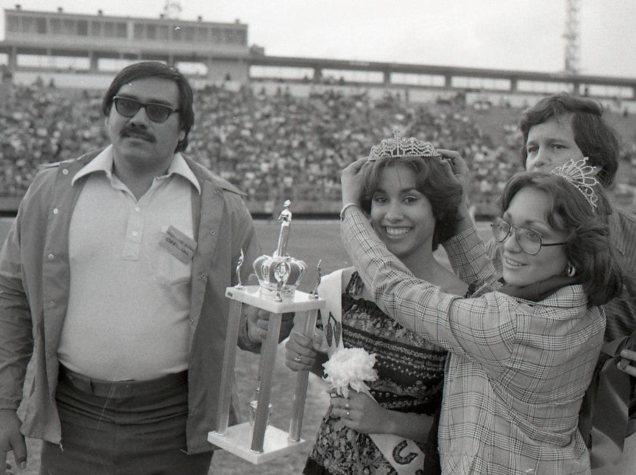 Valeria Castillo was crowned the Menudo Bowl queen on Jan. 9, 1978 in Corpus Christi.