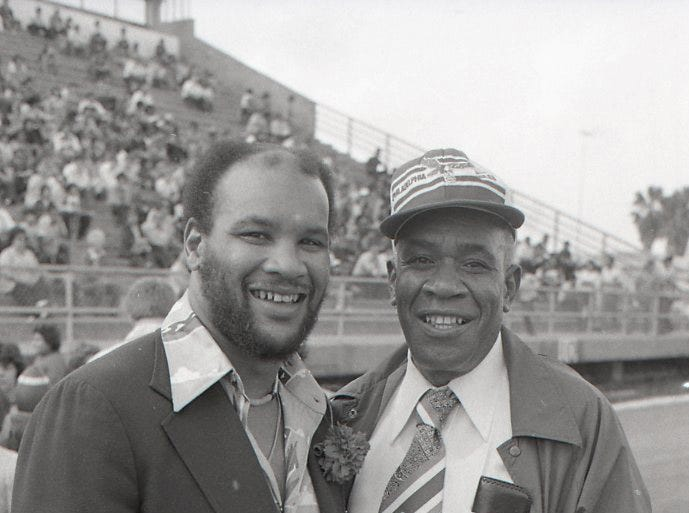 Miller grad and former NFL player Johnny Roland attended the Menudo Bowl in Corpus Christi on Jan. 9, 1978.