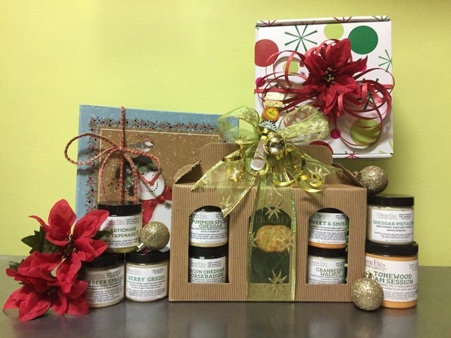 A holiday assortment of unusual cheese spreads, including collaborations with other Jersey food purveyors, is offered by Cheese Etc. of Haddon Township.