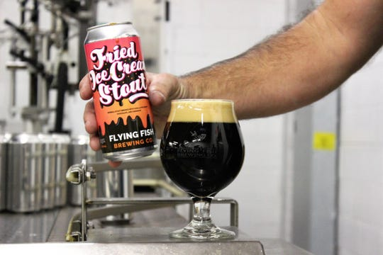 Fried Ice Cream Stout by Flying Fish of Somerdale is just one of the many creative craft beers you can find canned or bottled by New Jersey's craft breweries. Often, local breweries partner with food purveyors to brew collaborative flavors.