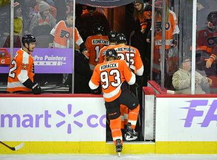 The Flyers turned a two-goal lead into a one-goal loss Tuesday to the Ottawa Senators.