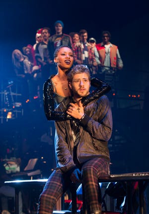 """Deri' Andra Tucker and Logan Farine lead the cast of the touring company of """"Rent"""" that runs Dec. 11-23 at the Aronoff Center as part of the Broadway in Cincinnati series. This is part of the show's 20th Anniversary Tour, though the original premiered off-Broadway in 1996."""
