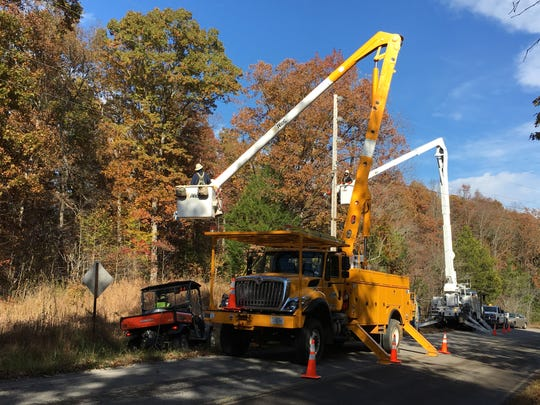 In this file photo, crews work in Tennessee to stretch fiber-optic cable. It was announced this week that NTS Communications will be acquired by Vast Broadband.