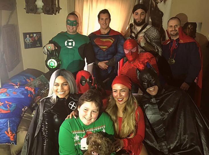 Trevor Kohler, an 11-year-old Jamesburg boy diagnosed with leukemia, was visited by nine superheroes at his home in an effort organized by the group Heroes 4 Heroes.