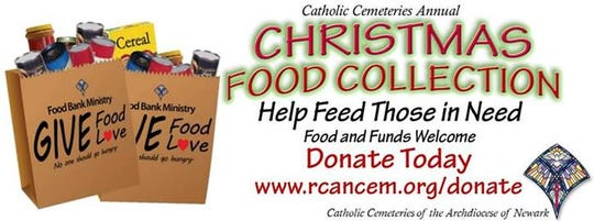 Catholic Cemeteries, a ministry of the Roman Catholic Archdiocese of Newark, is kicking off its 15th annual Christmas Food Drive.
