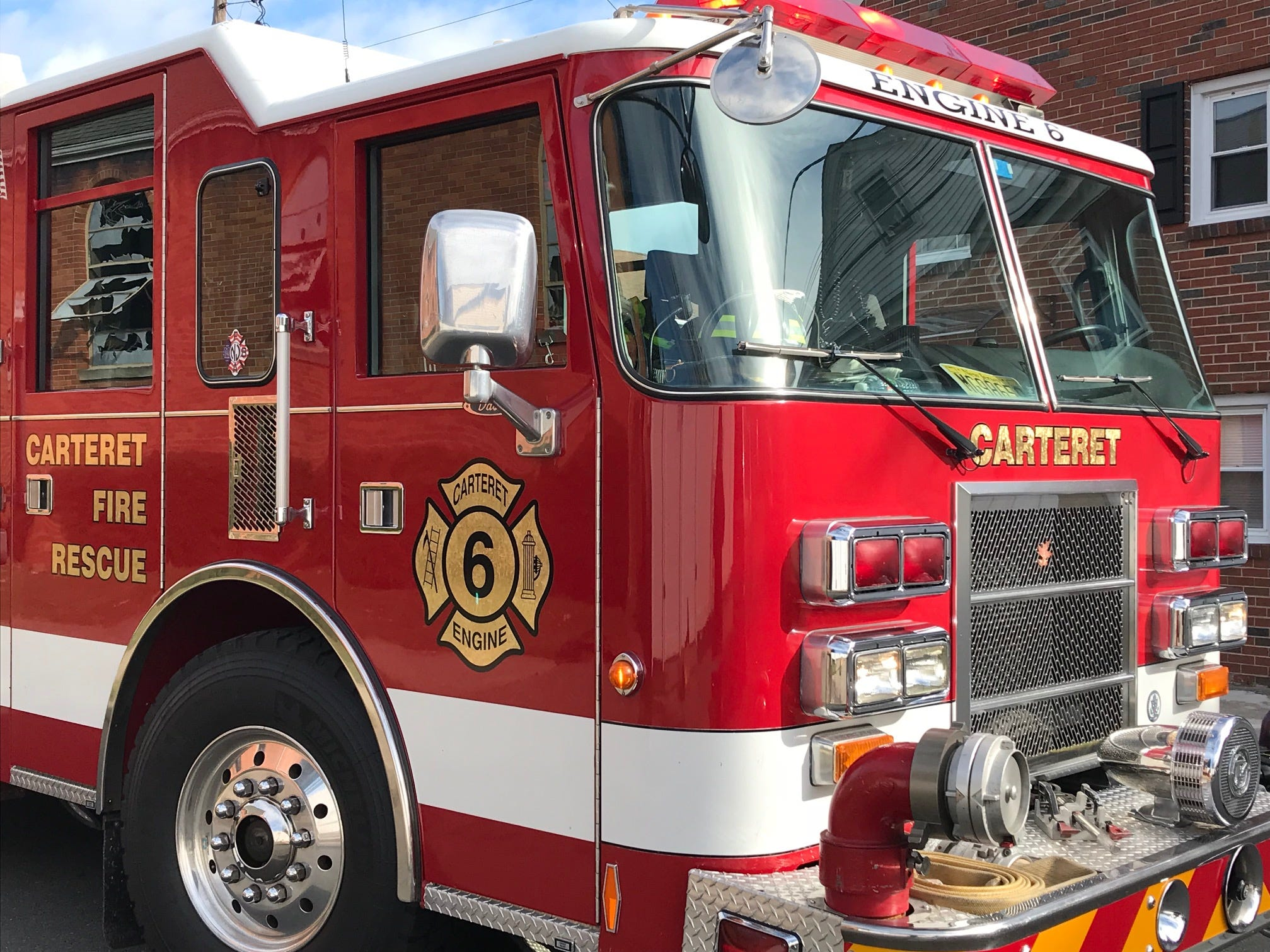 Carteret fire trucks remained at the scene following a two-alarm fire that damaged St. Mary's Ukrainian Catholic Church on Tuesday night.