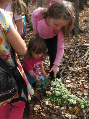 Tree House Gang participants enjoy a naturalist-led walk in Lord Stirling Park. The afternoon classes run from 12:45 to 3:15 p.m.and are offered on Tuesdays, Dec.4, 11, and 18.