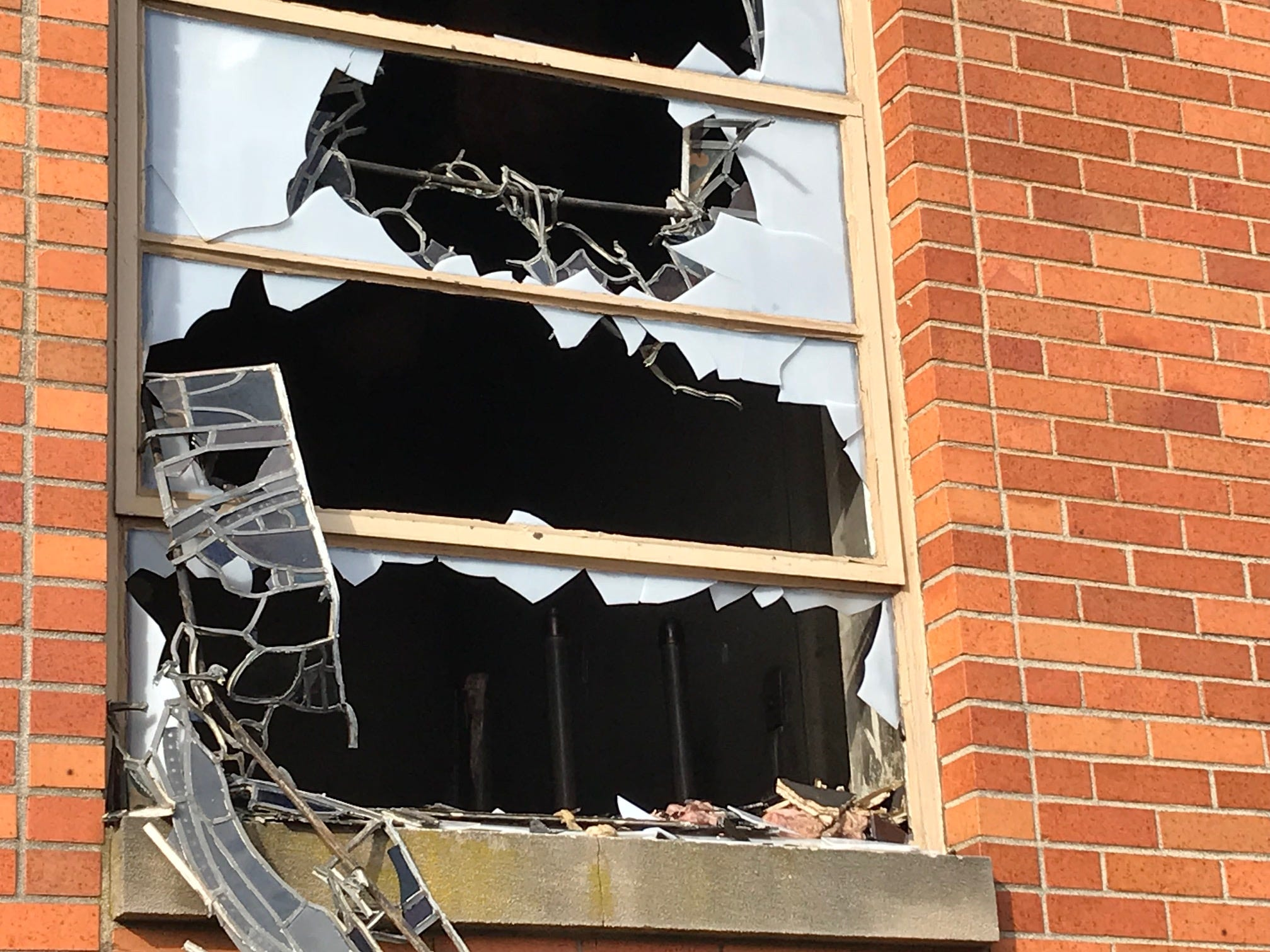St. Mary's Ukrainian Catholic Church in Carteret was damaged by a two-alarm fire Tuesday night.