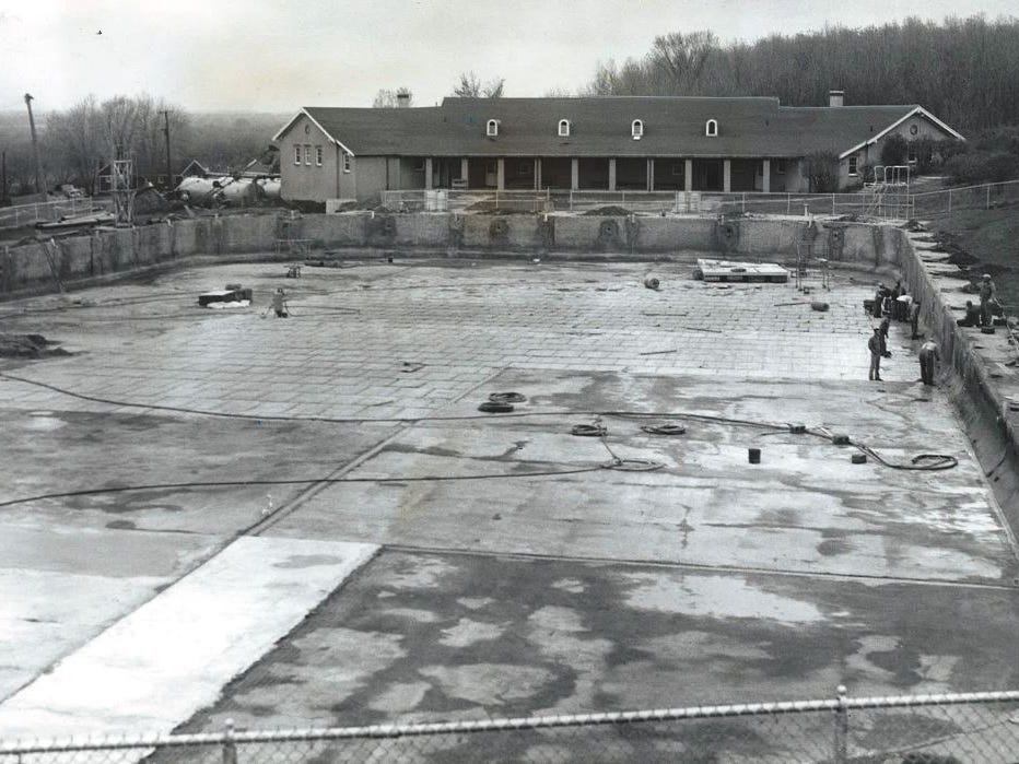 From 1960: More than $100,000 is being spent to get the Camp Dodge pool ready for the 1960 swim season. In addition to a filtering system, plans called for relining and repainting its concrete walls and sides, underwater lights and refurbishing the bathhouse. The new filter system was expected to cleanse the pool's entire water volume (nearly 3 million gallons) in 10 hours.