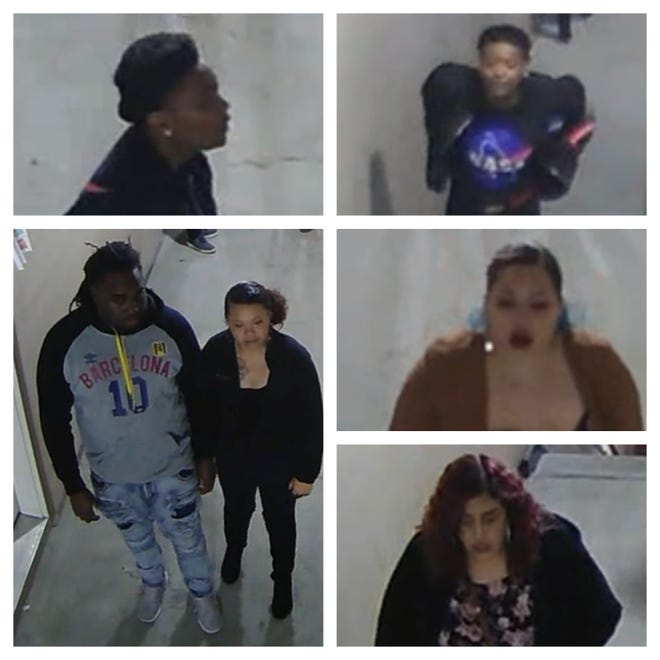 A collage of several people allegedly involved with an Ankeny assault and burglary.