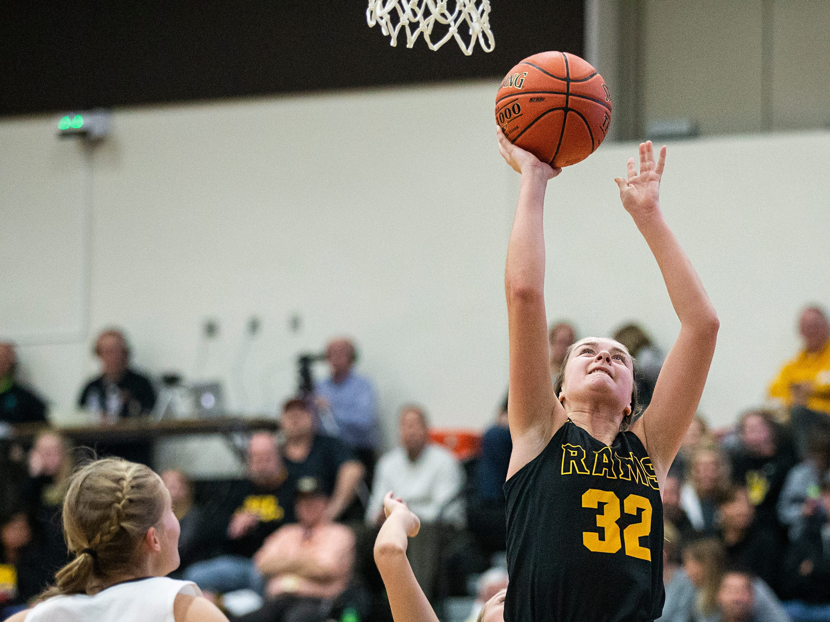SEP's Maggie McGraw shoots the ball during the Southeast Polk vs. Ankeny Centennial girls' basketball game on Tuesday, Nov. 27, 2018, at Ankeny Centennial High School.