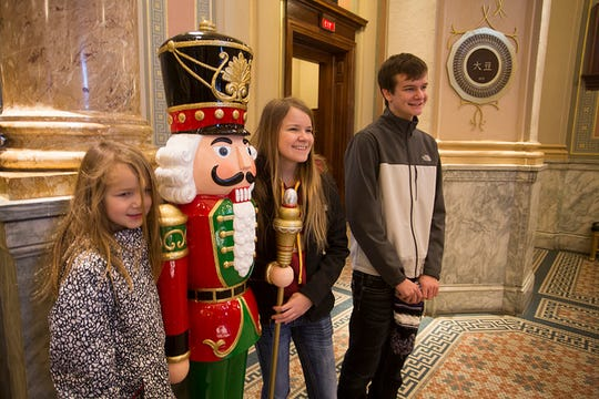 Families and friend enjoy the The World Food Prize Foundation's open house.