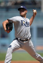 Tampa Bay Rays starting pitcher Matt Moore pitches July 27, 2016.