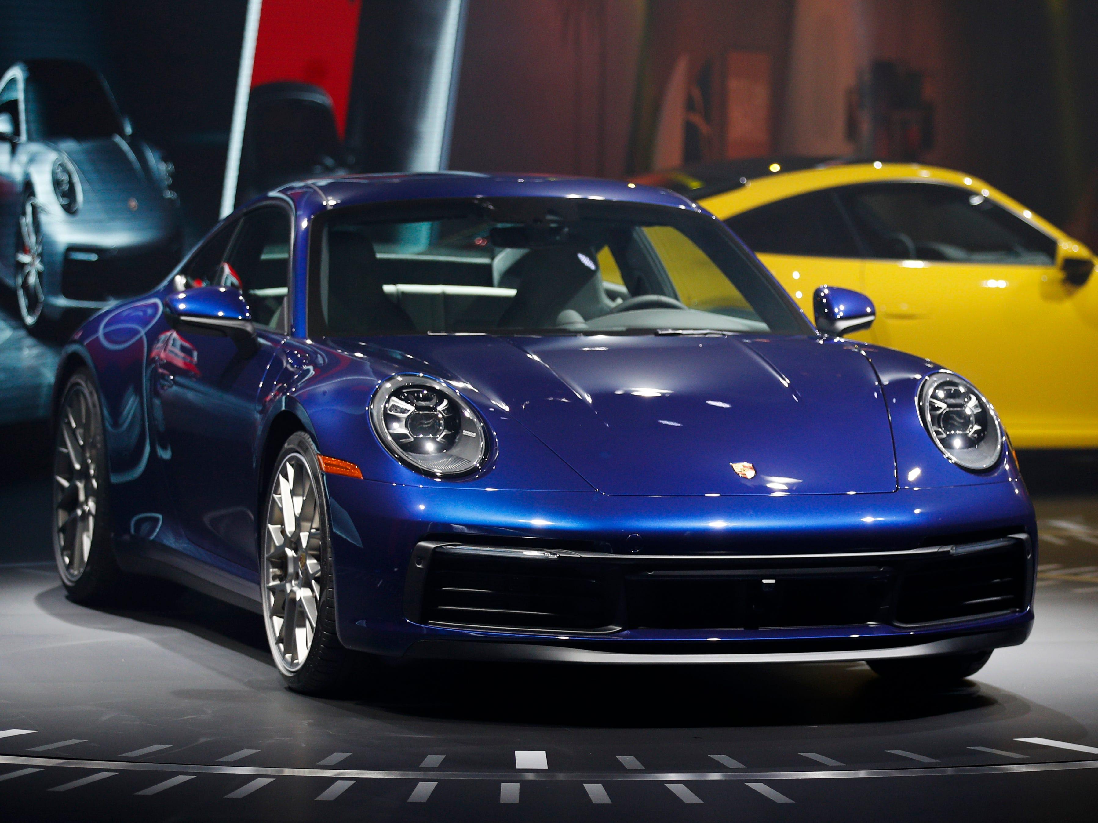 Porsche AG CEO Oliver Blume introduces the 2020 Porsche 911 models.